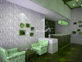 Wave Bambu 3D Duvar Paneli