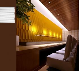 Village 3D Bambu Duvar Paneli