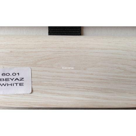 Kablo Kanallı PVC Süpürgelik Beyaz