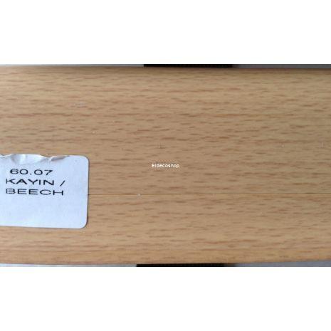 Kablo Kanallı PVC Süpürgelik Kayın